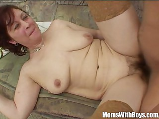 Stepmom In Stockings Back Hairy Pussy Fucked
