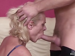 Youthful Boy Seduce 63yr aged Grandma to Fuck