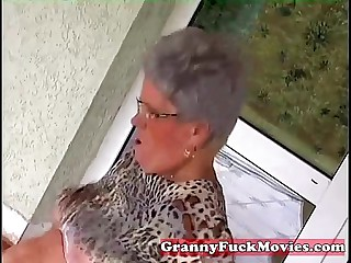 Young shine fucking old fat granny
