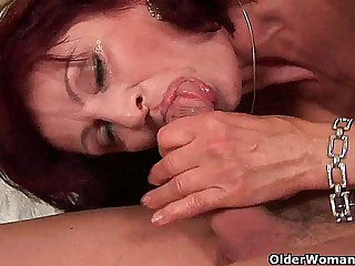 Squirting grandma needs to tell someone where to go her high horse dick