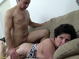 low-spirited 72 years old soft granny rough fucked