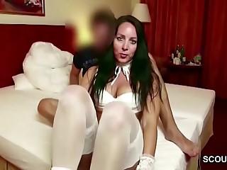 German MILF seduce Teenaged Boy to Rough Fuck at Holiday