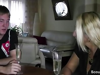 German Mom Teach Step-Son forth Fuck at 18yr old Birthday