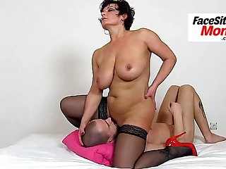 Skinny european milf Nora high heels and cunnilingus