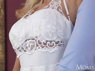 Female parent Wet horny housewife needs to sky a thick hard cock medial her to cum