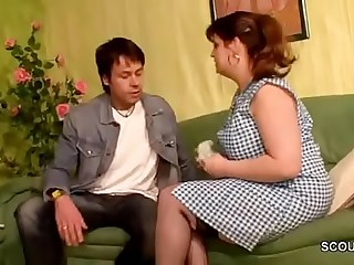 German Mom Sedcue to Fuck wide be advisable for Young Boy be advisable for will not hear of Friend