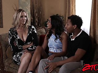 Mother I'd Like To Fuck stunner julia ann shares thick bbc with latin infant hottie
